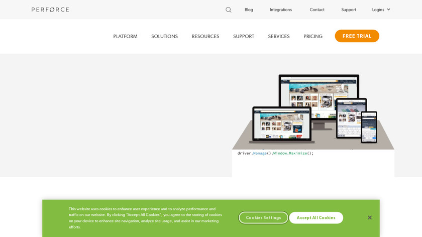 Perfecto Mobile Landing Page