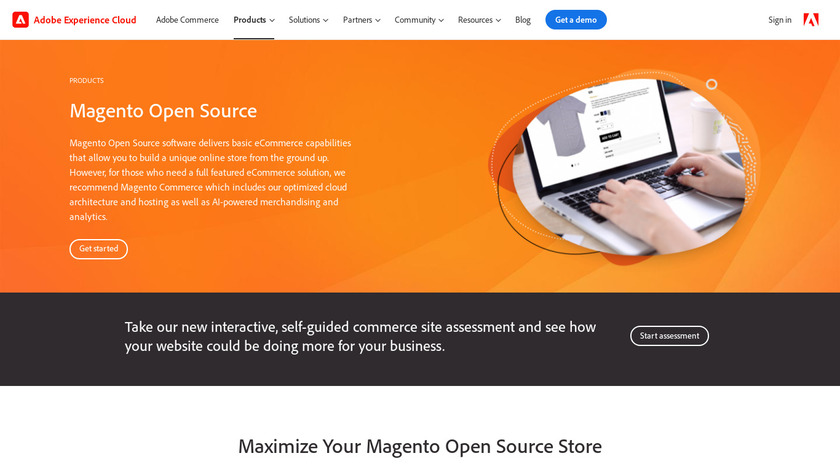 Magento Open Source Landing Page