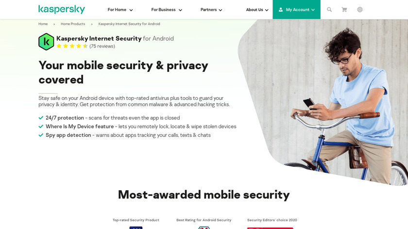 Kaspersky Internet Security for Android Landing Page