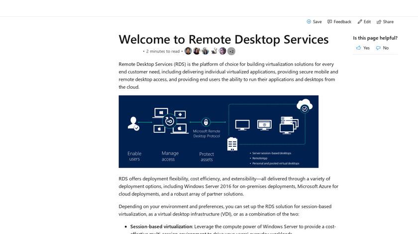 Remote Desktop Services Landing Page