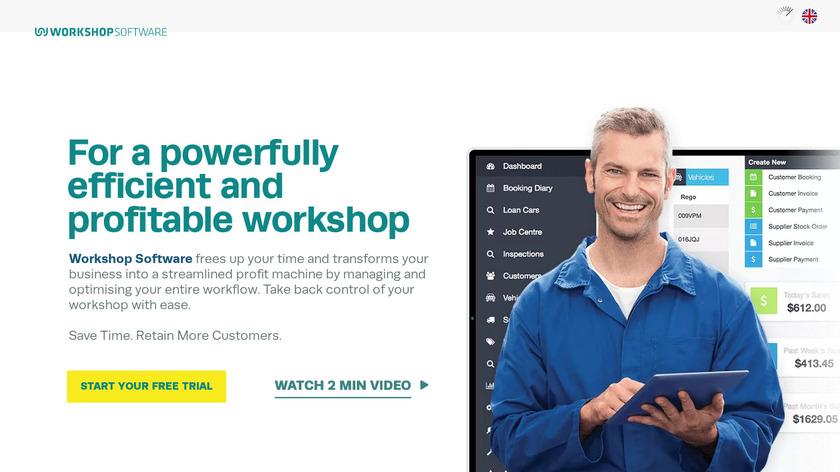 Workshop Software Landing Page