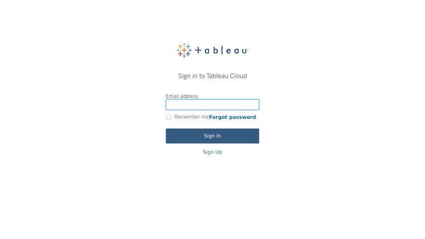 Tableau Online Landing Page
