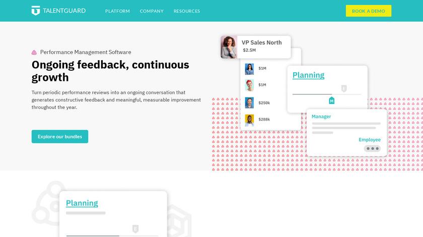 TalentGuard Performance Management Landing Page