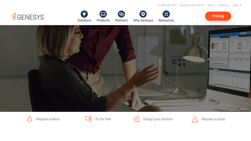 Genesys PureConnect Landing Page
