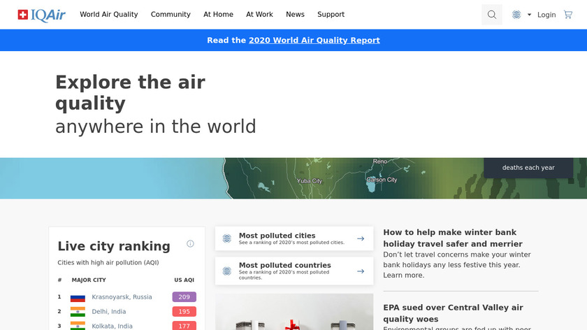 AirVisual Landing Page