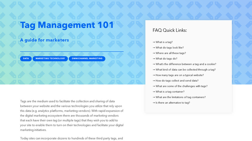 Signal Tag Management Landing Page