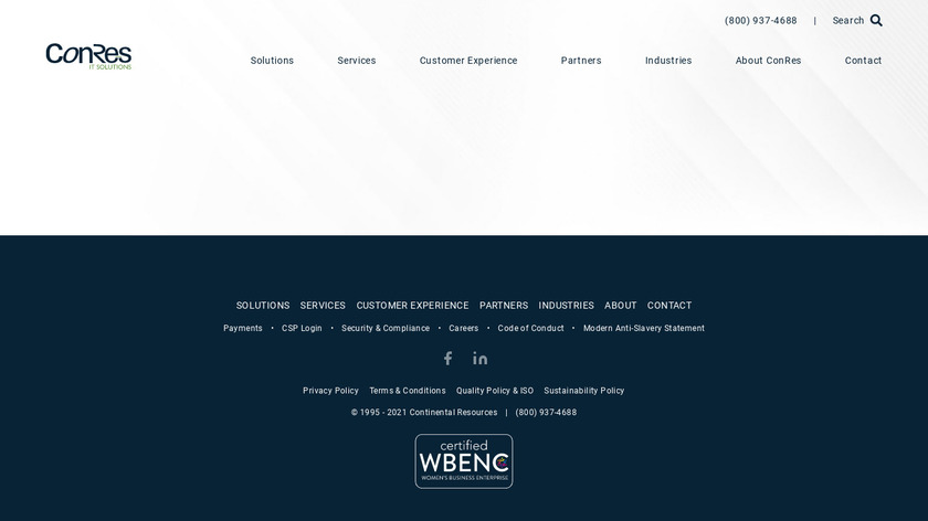 Conres Landing Page