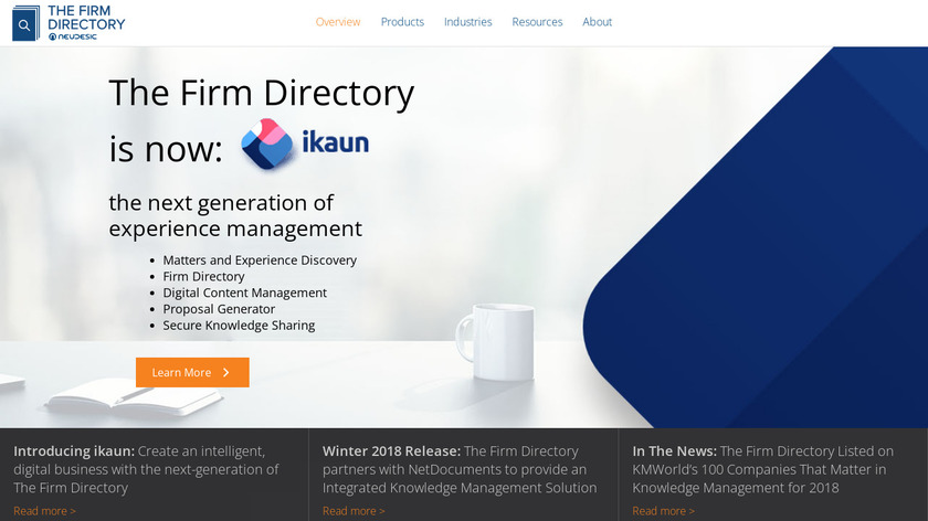 The Firm Directory Landing Page