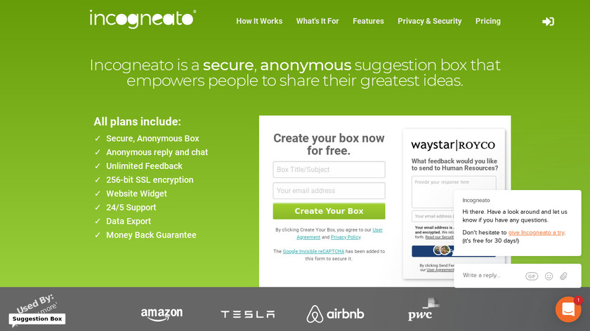 Incogneato Landing Page