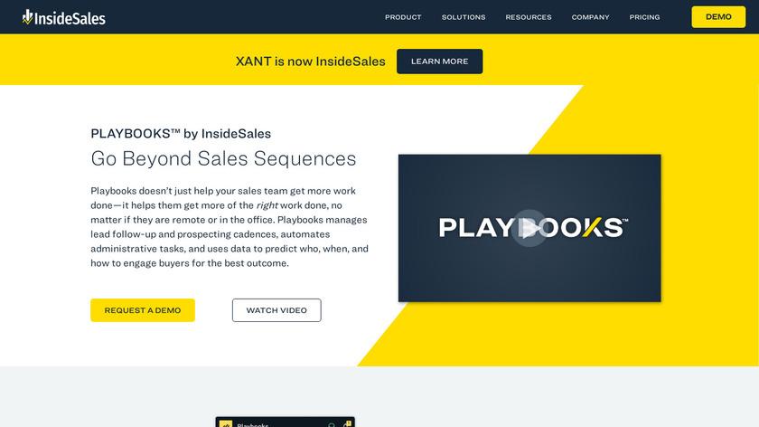 InsideSales.com Predictive Playbooks Landing Page