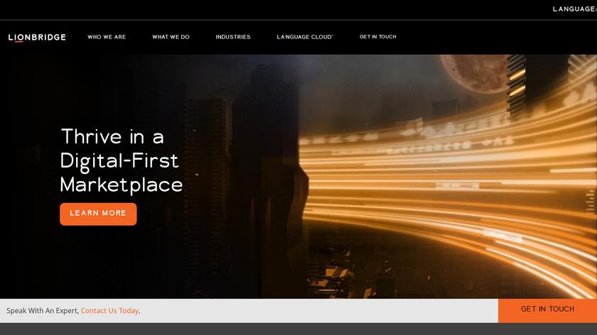 Lionbridge Landing Page