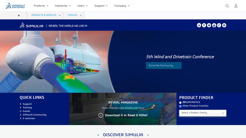 CST MICROWAVE STUDIO Landing Page