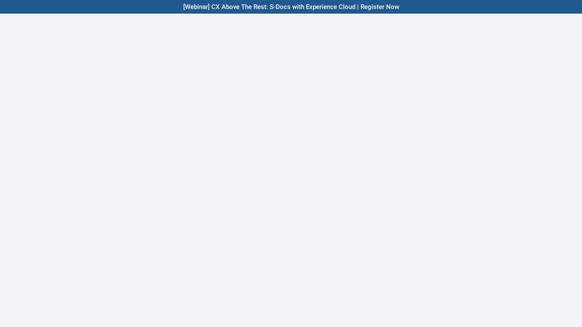 S-Docs Landing Page