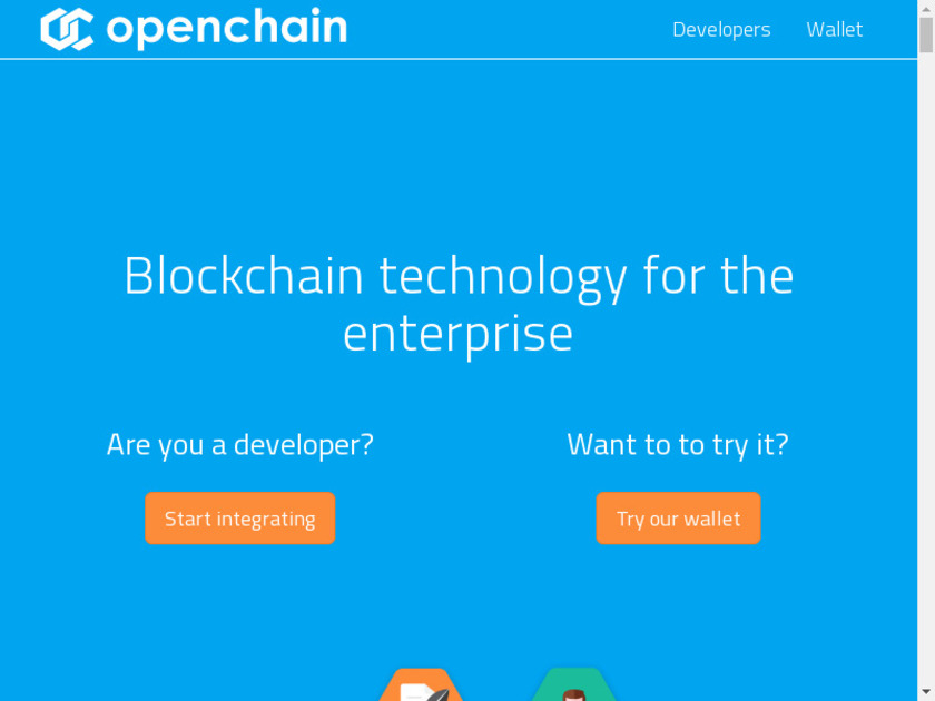 Openchain Landing Page