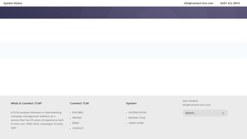 Connect TCM Landing Page