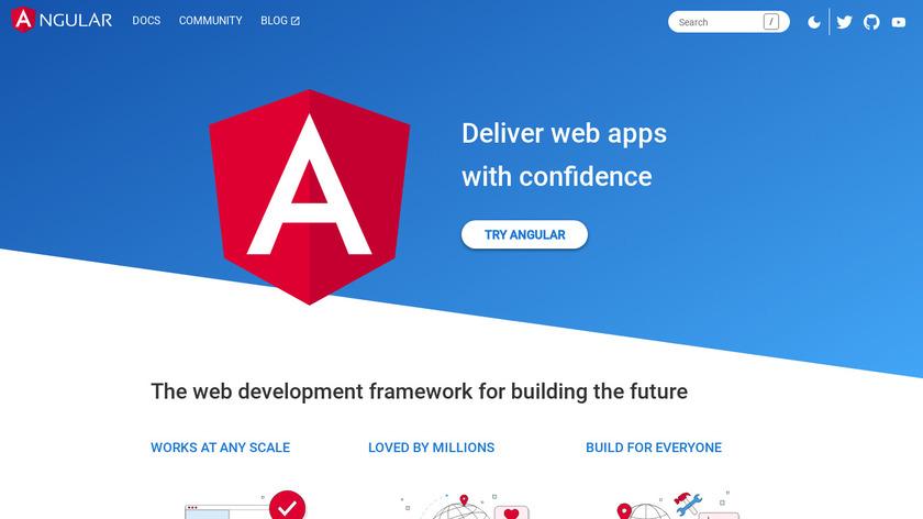 Angular.io Landing Page
