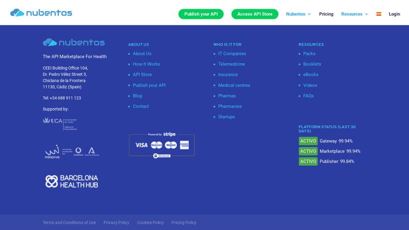 Nubentos Landing Page