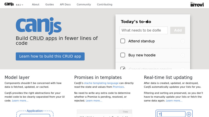 CanJS Landing Page