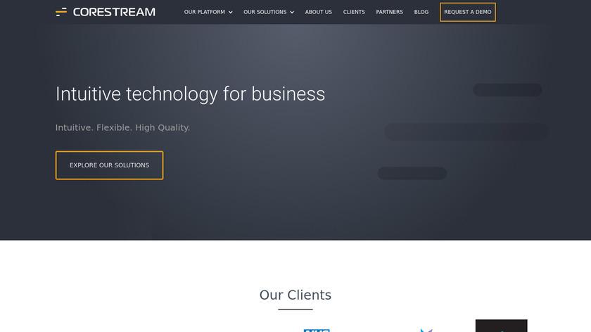 CoreStream Platform Landing Page