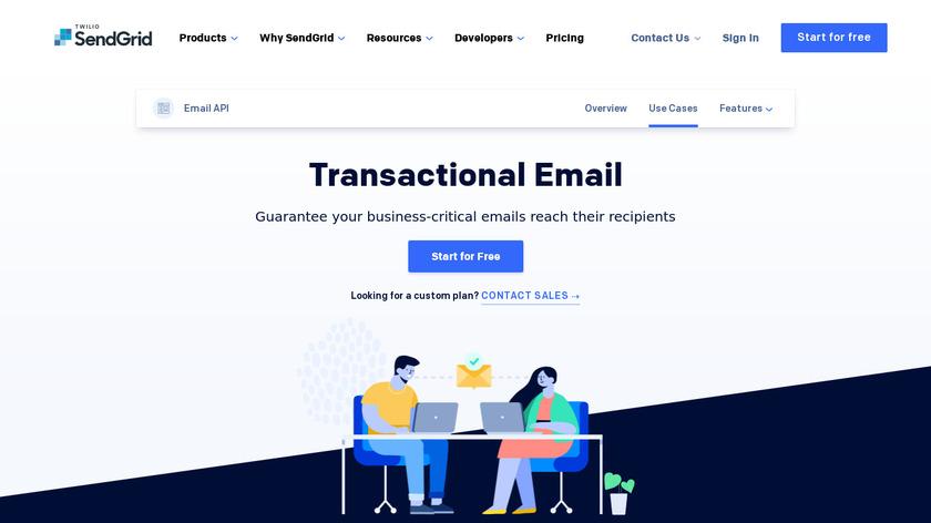 SendGrid Transactional Email Landing Page