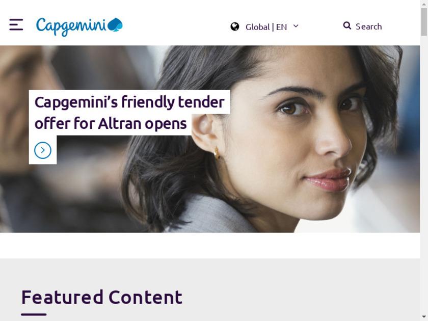 CapGemini Landing Page
