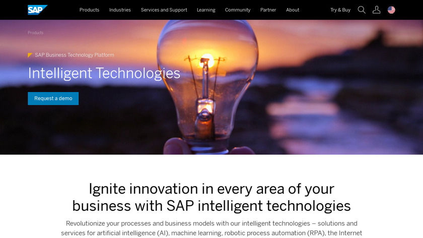 SAP Leonardo Landing Page