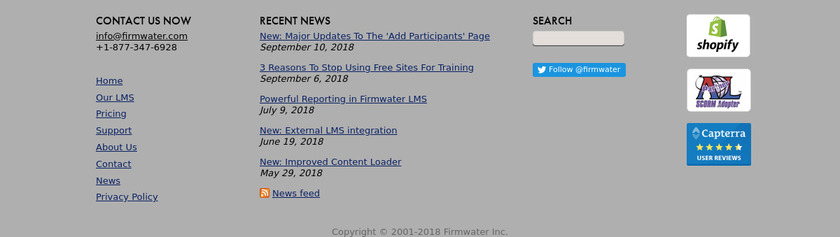 Firmwater LMS Pricing