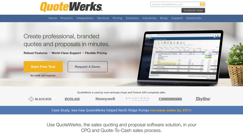 QuoteWerks Landing Page