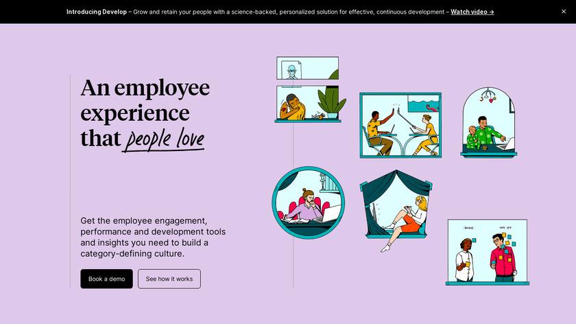Culture Amp Landing Page