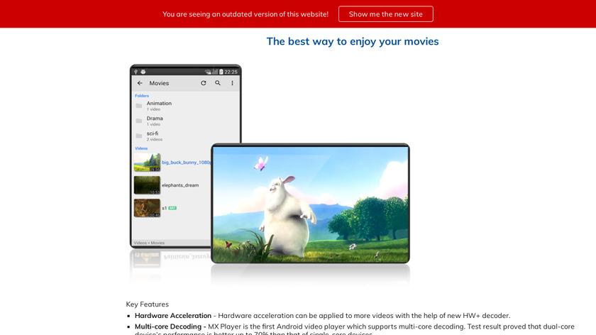 MX Player Landing Page