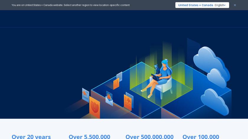 Acronis True Image Landing Page