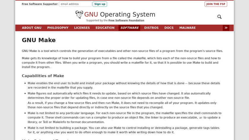 GNU Make Landing Page