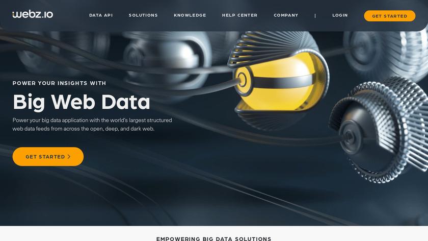 Webhose.io Landing Page