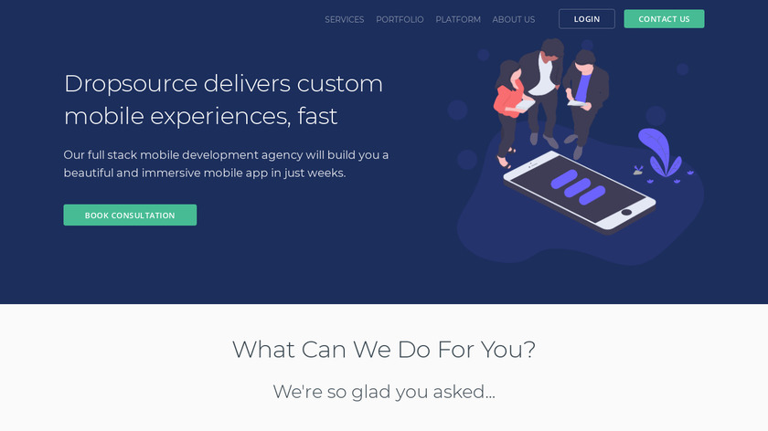 Dropsource Landing Page