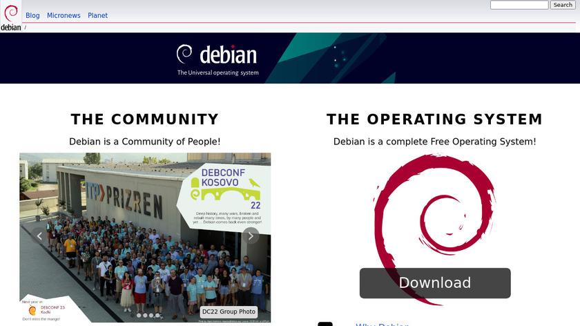 Debian Landing Page