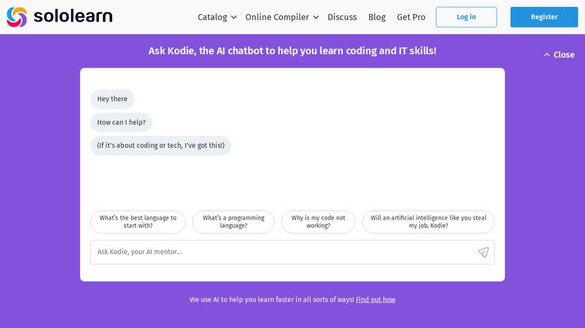 SoloLearn Landing Page