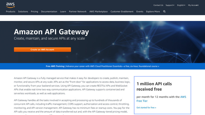 Amazon API Gateway Landing Page