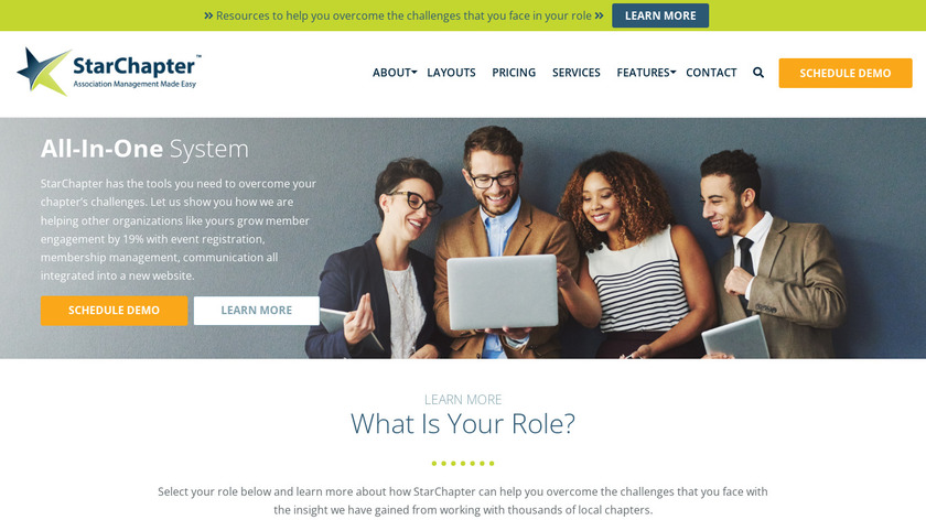 StarChapter Landing Page