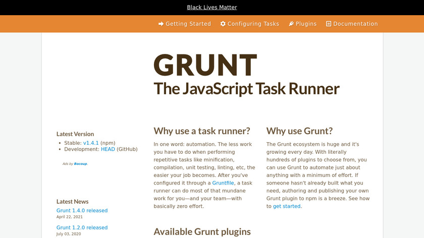 Grunt Landing Page