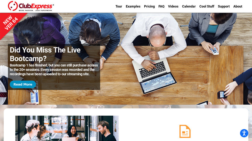 ClubExpress Landing Page