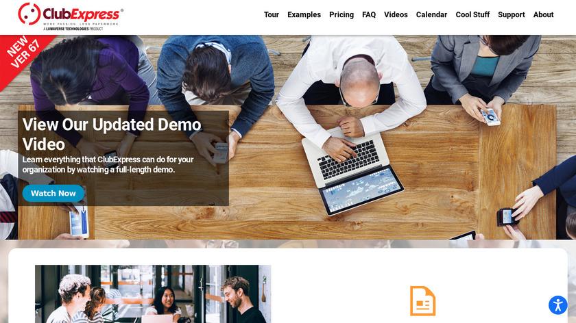 ClubExpress Landing Page