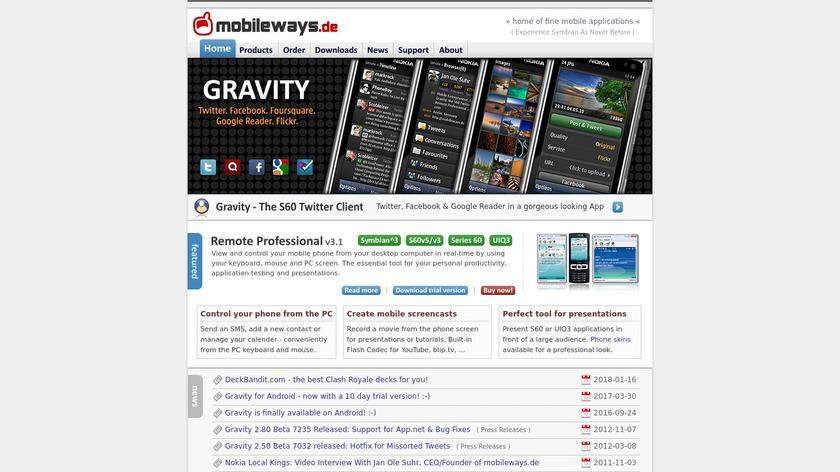 Gravity Landing Page