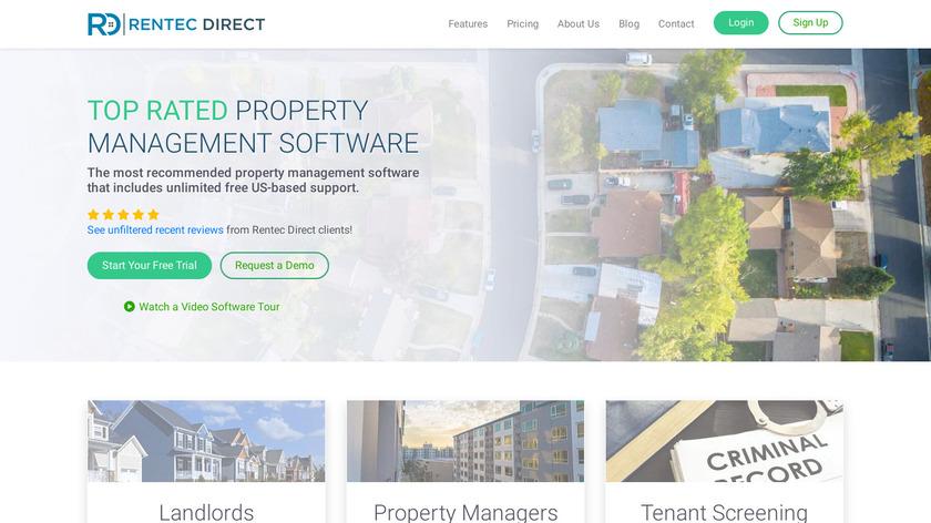 Rentec Direct Landing Page