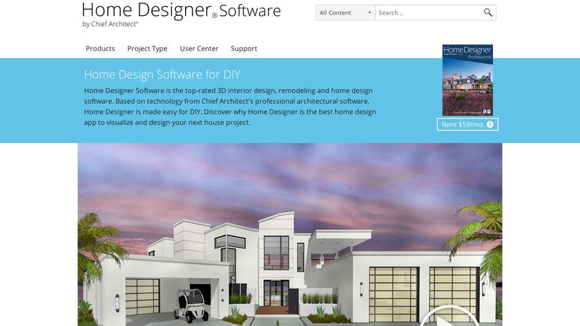 Home Designer Landing Page