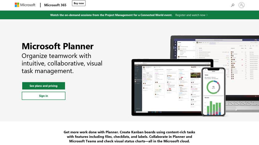 Microsoft Planner Landing Page