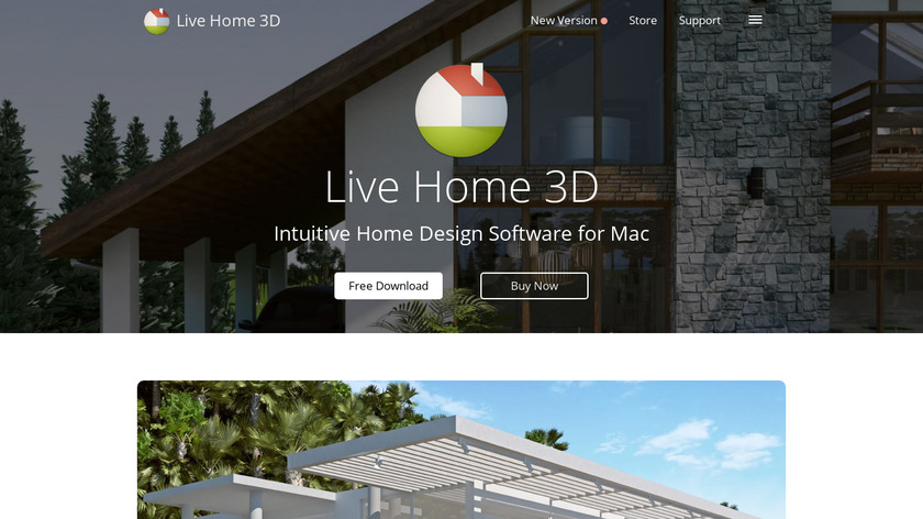 Live Home 3D Landing Page