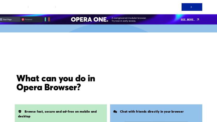 Opera Landing Page