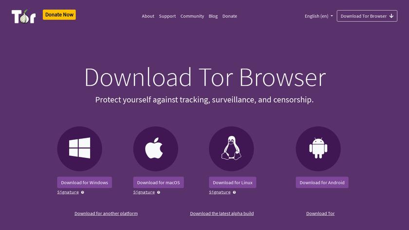 Tor Browser Landing Page