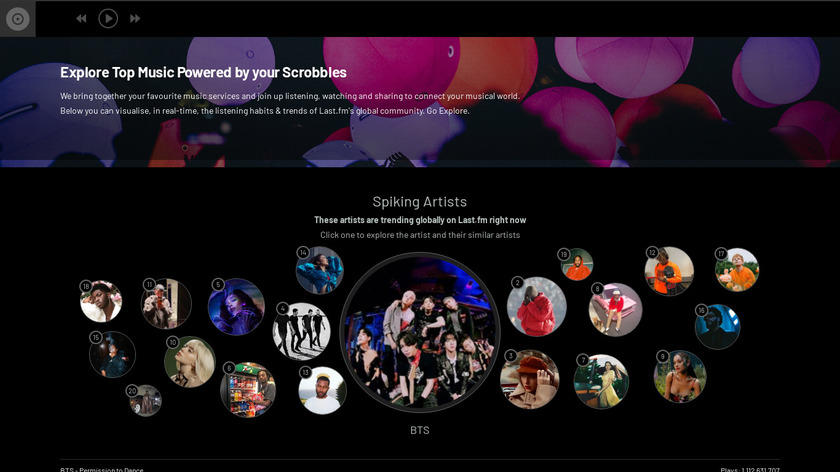 Last.fm Landing Page