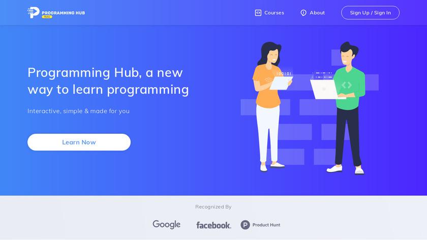 Programming Hub Landing Page